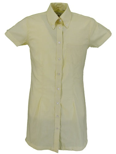 Relco Ladies Yellow Oxford Retro Shirt Dress
