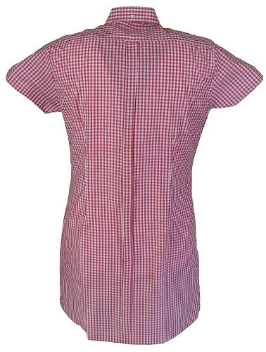 Relco Ladies Red Gingham Retro Shirt Dress