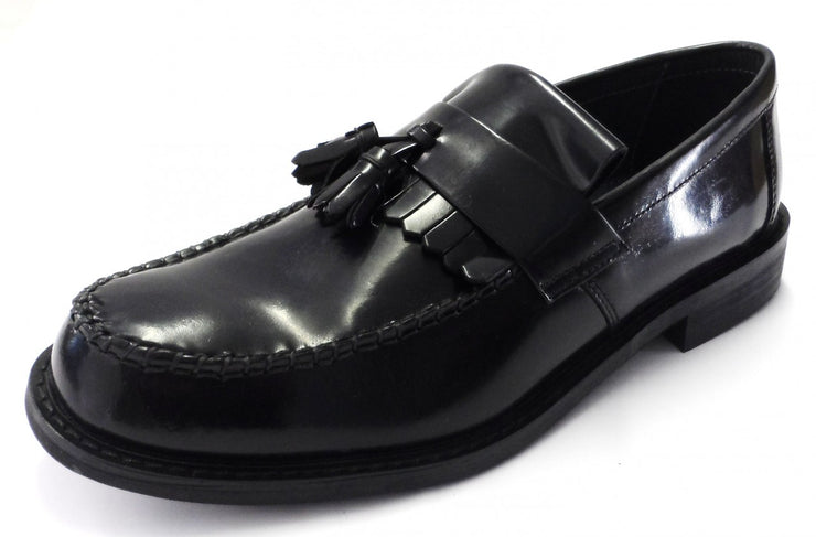 Classics Black Retro,Ska,Northern Soul RUDE BOY Tassle Loafers