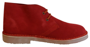 Roamers Red Retro 70s Mod Style Real Suede Desert Boots