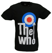 Mens Black Official The Who ELEVATED TARGET T Shirt