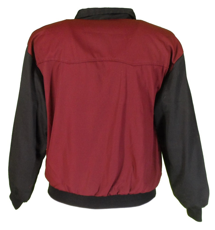Relco Burgundy & Black 60s 70s Retro Rockabilly Harrington Jackets