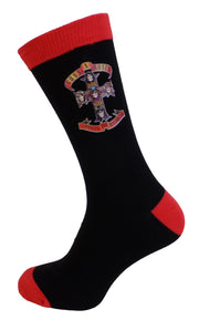 Mens Officially Licensed Guns N' Roses Appetite for Destruction Socks