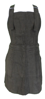 Run & Fly Ladies Retro Indie Brown Corduroy Pinafore Dress
