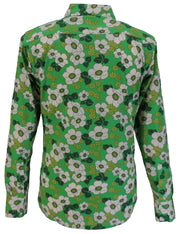 Run & Fly Retro Green Floral Poppy Shirt