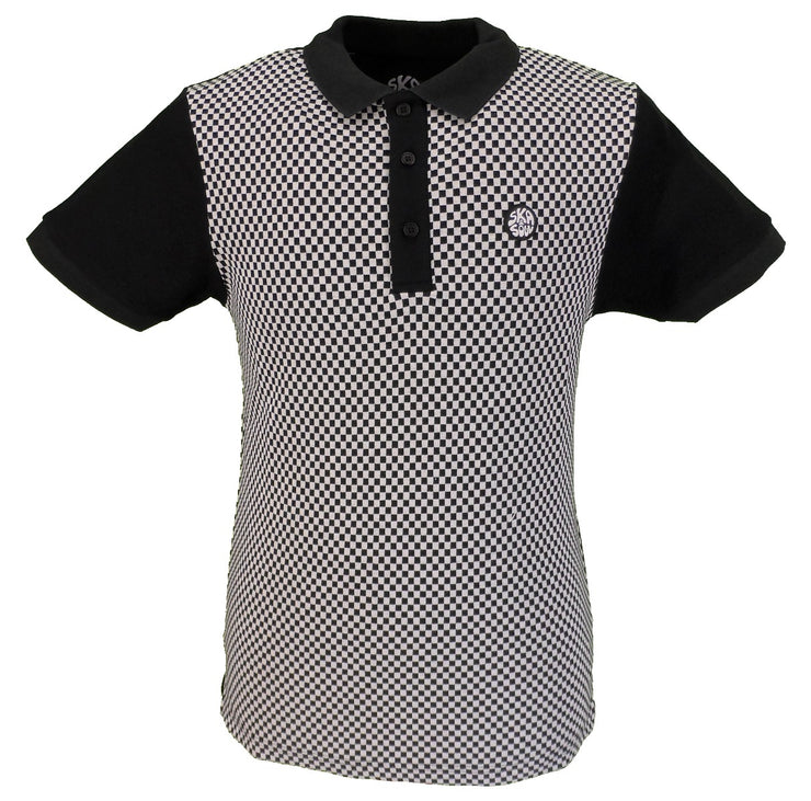 Ska & Soul Chequerboard Panel Polo Shirt