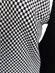 Relco Classic Retro Black and White Checkerboard Cardigan