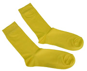 Mens 2 Pair Pack Yellow Retro Socks