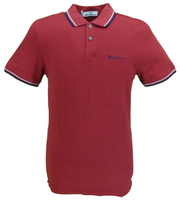 Ben Sherman Men's Signature Red 100% Cotton Polo Shirt