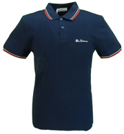 Ben Sherman Men's Navy Signature 100% Cotton Polo Shirt