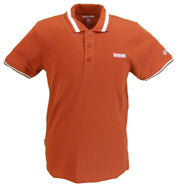 Lambretta Mens Arabian Spice Brown Single Tipped Polo Shirt