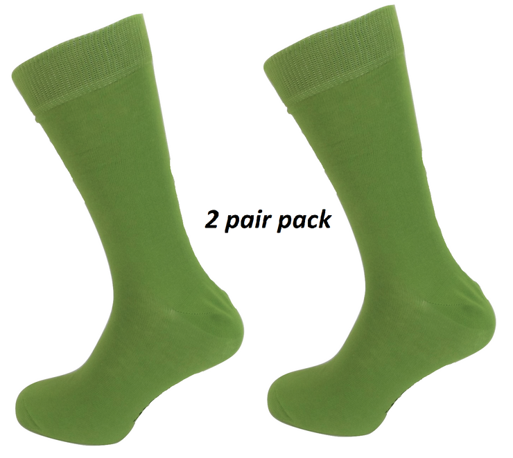 Mens 2 Pair Pack Lime Green Retro Socks