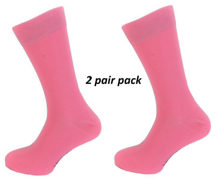 Mens 2 Pair Pack Pink Retro Socks