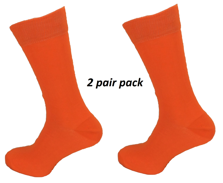 Mens 2 Pair Pack Orange Retro Socks