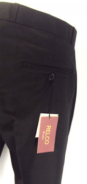 Black 60S 70S Retro Mod Vintage Sta Press Trousers