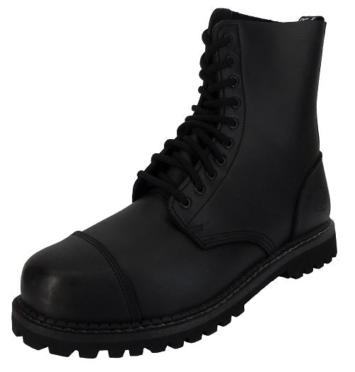 Grinders Mens Stag 10 Eyelet Combat Boots