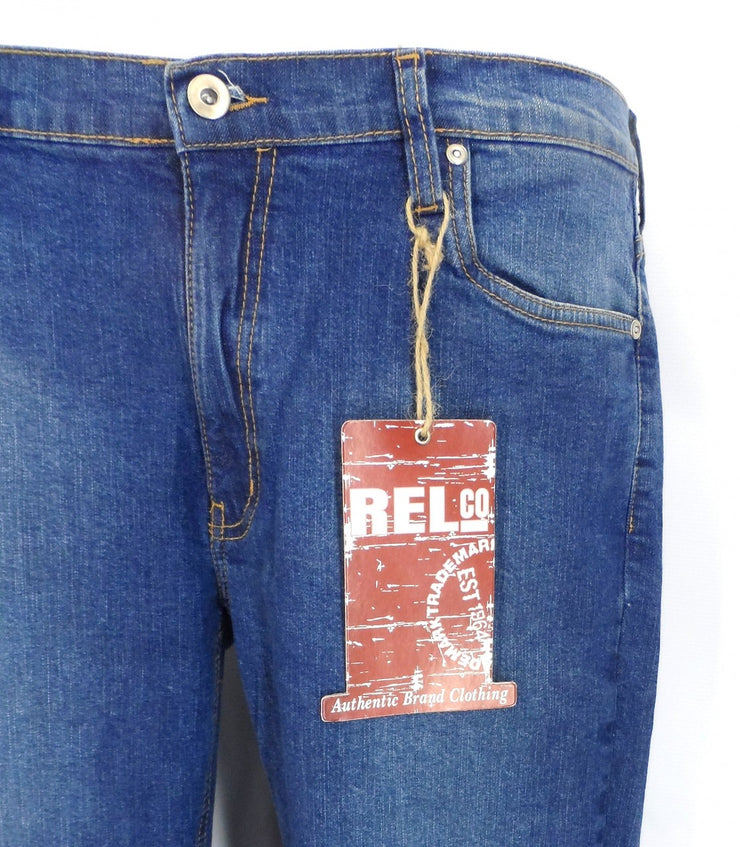 Relco Blue Stonewashed Skinny Stretch Jeans