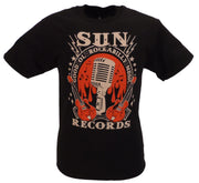 Sun Records Mens Black Mic Cotton T Shirt