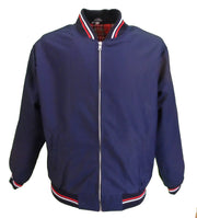 Mazeys Mens Navy Tartan Lined Classic Harrington Monkey Jacket