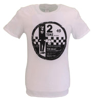 Mens White Official 2 Tone The Beat T Shirt