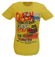 Mens Official The Clash Singles Collage Text T Shirt