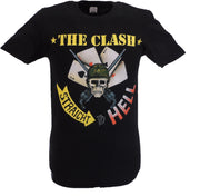 Mens Black Official The Clash Straight To Hell Single Cover T Shirt