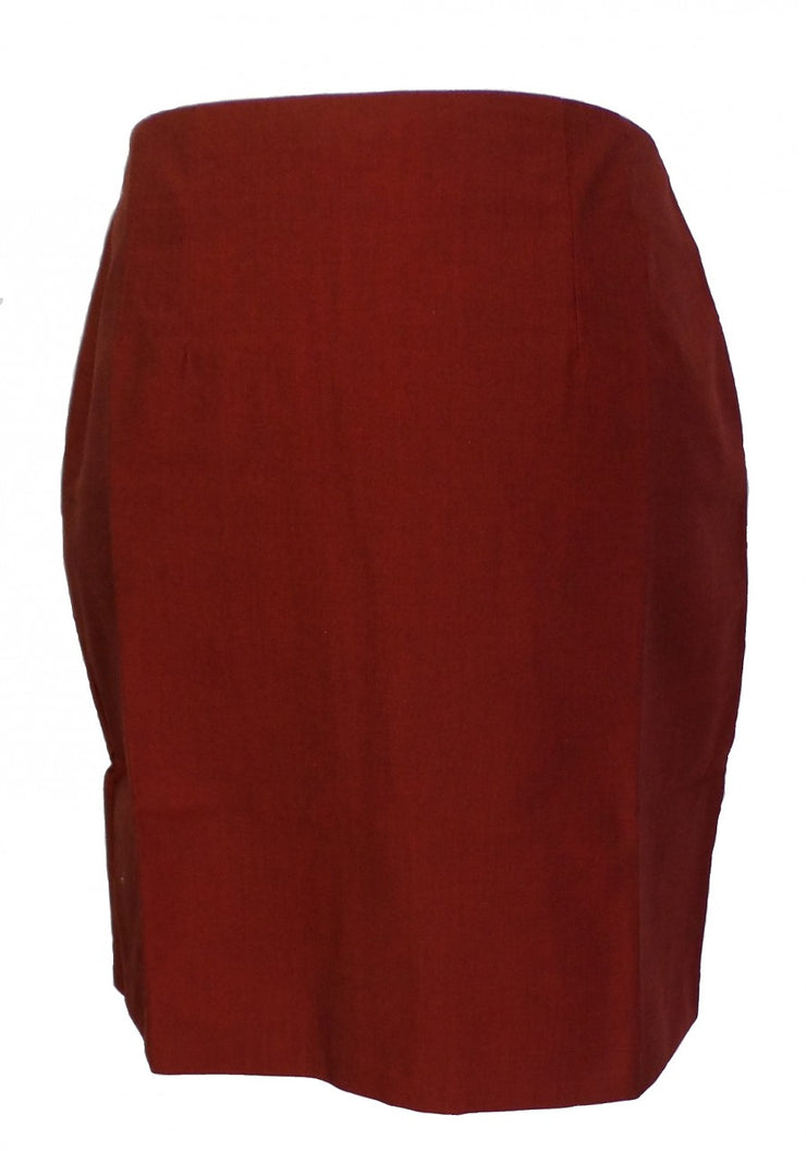 Relco Ladies Retro Mod Burgundy & Black Tonic Pencil Skirt