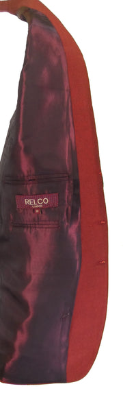 Relco Mens Tonic Burgundy & Black Suits