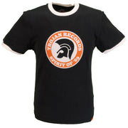 Trojan Records Mens Black Spirit of 69 100% Cotton Peach T-Shirt