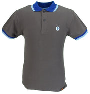 Trojan Records Brown Contrast Trim Polo Shirt
