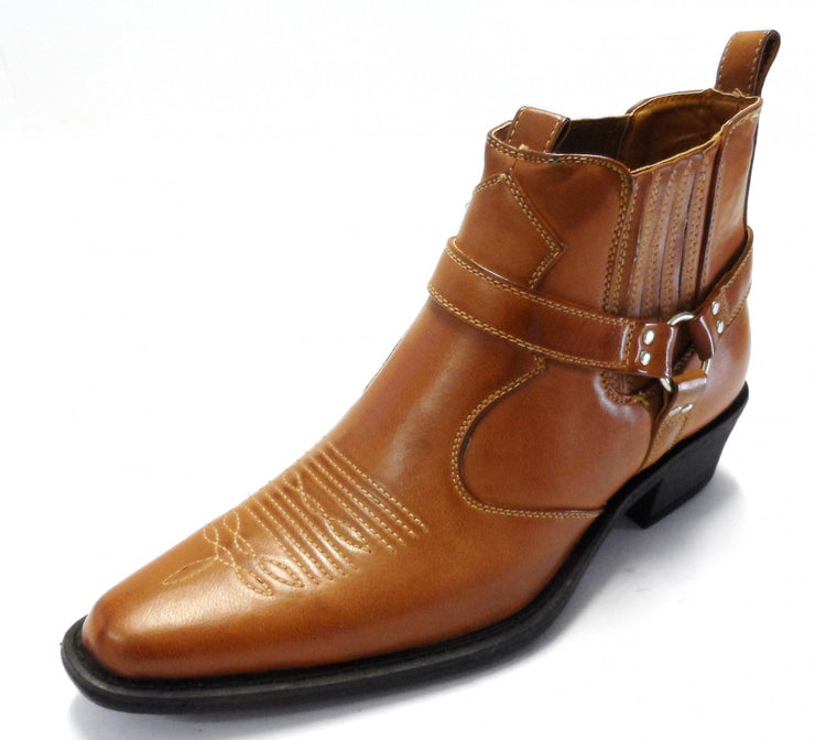 Tan Western Cowboy Harness Boots