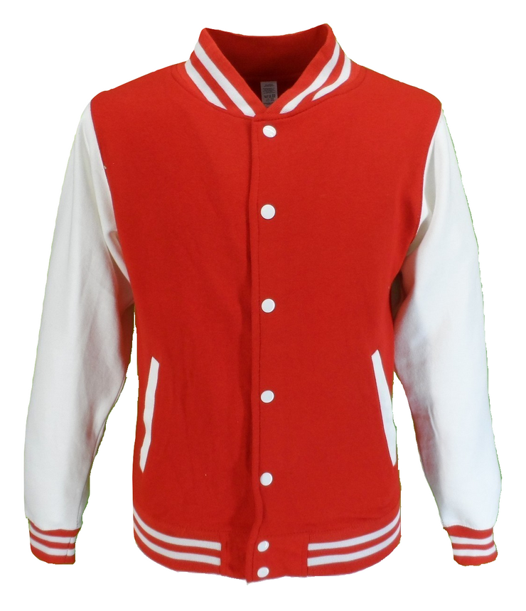 Mens Retro Red/White Varsity Letterman Jackets