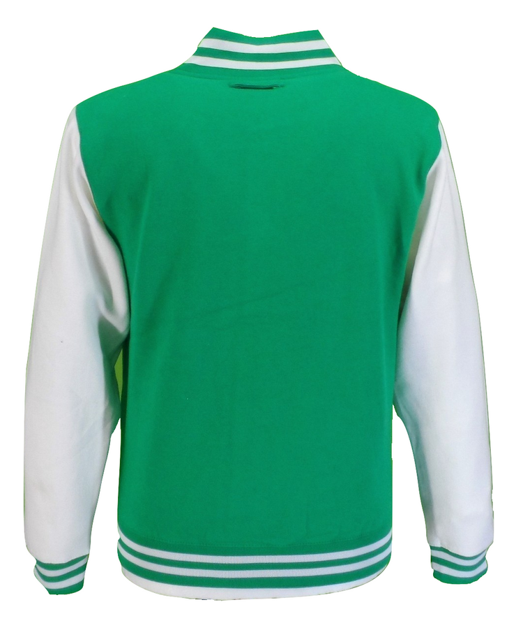 Mens Retro Green/White Varsity Letterman Jackets