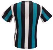 Mens Turquoise Vertical Striped Mod T Shirts