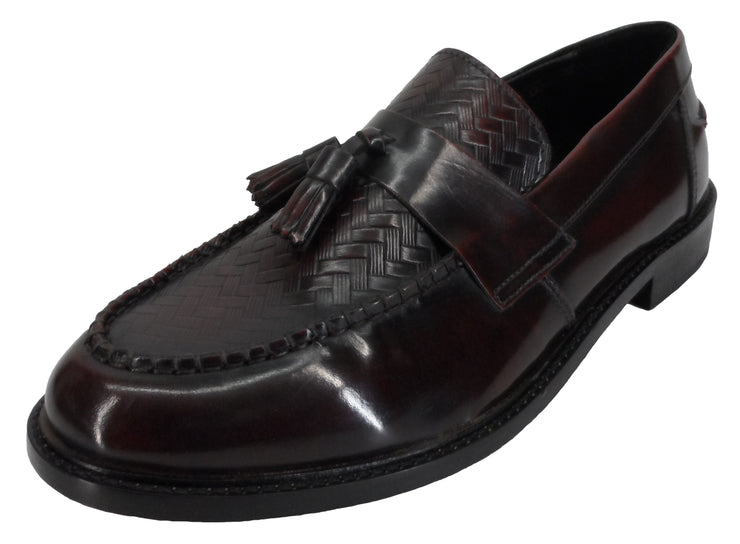 Ikon Original Weaver Oxblood Retro Tassel Loafers
