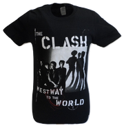 Mens Black Official The Clash Westway To The World T Shirt