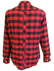 Wigan Casino Red Check Flannel Button Down Retro Shirt …