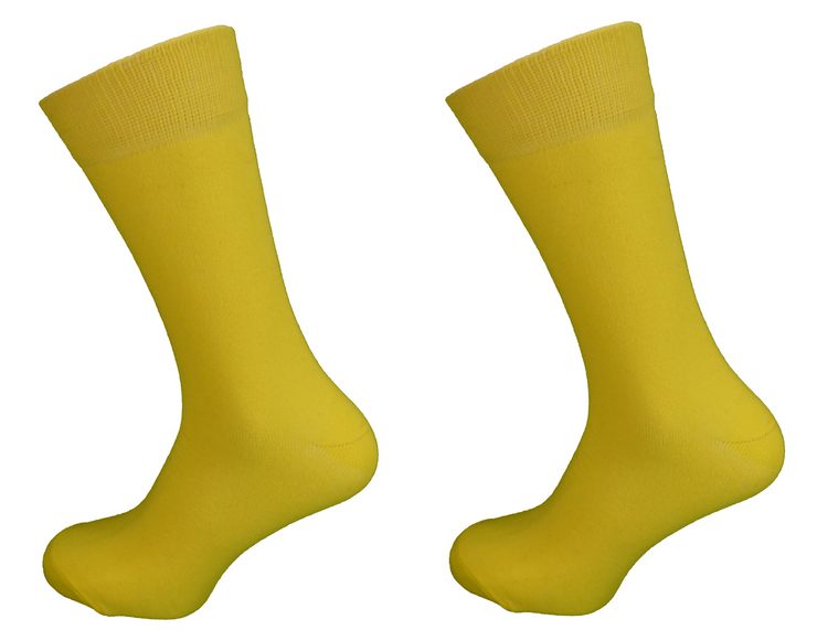 Ladies 2 Pair of Pack Red and Yellow Socks