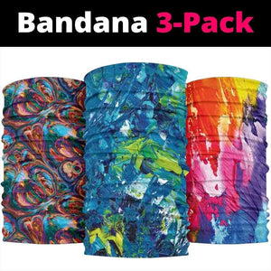 Abstract Oil Paintings Set - Bandana 3 Pack - Merchandize.ca