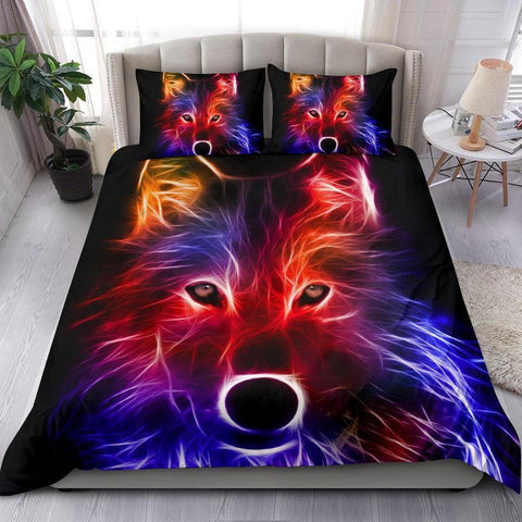 Abstract Wolf Bedding Set - Merchandize.ca
