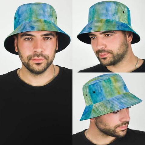 Bucket Hat Blue Watercolor Pastel - Merchandize.ca
