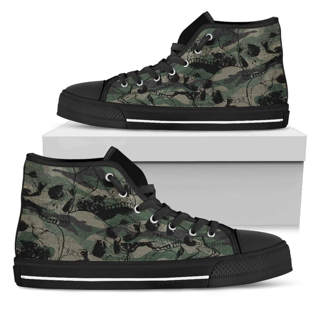 Camo Skulls Men's High Tops - Merchandize.ca