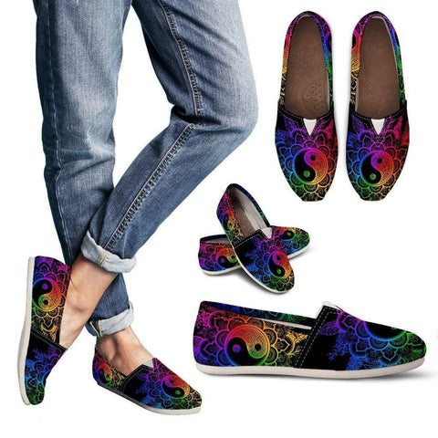 Colorful YinYang Handcrafted Casual Shoes - Merchandize.ca