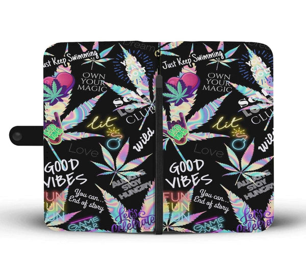 Custom Designed Good Vibes Phone Wallet case - Merchandize.ca
