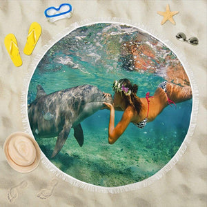 Dolphin Kiss Beach Blanket - Merchandize.ca