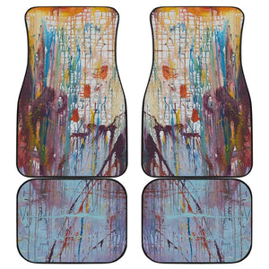 Drizzled Car Mats from Expressionistic Fine Art Painting - Merchandize.ca