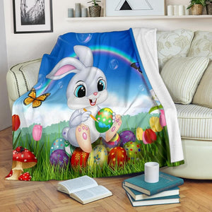 Easter Bunny Rainbow Micro Fleece Blanket - Merchandize.ca