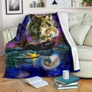 Wolf Pack Micro Fleece Blanket - Merchandize.ca
