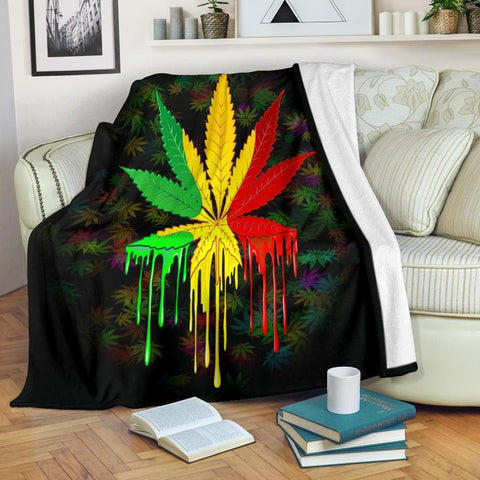 Rasta Colors Micro Fleece Blanket - Merchandize.ca