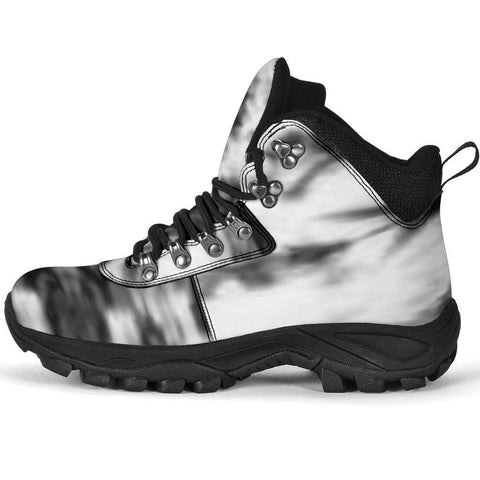 Black and White Tie Dye Alpine Boots - Merchandize.ca